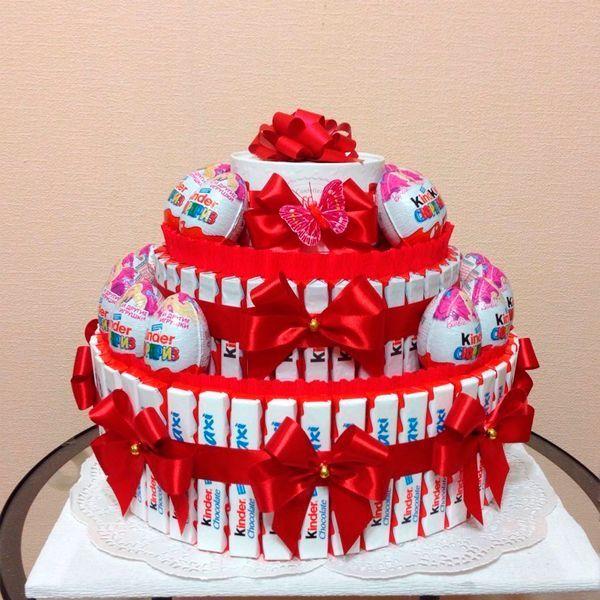 конфетный торт из конфет чем заменить торт на день рождения интересные идеи