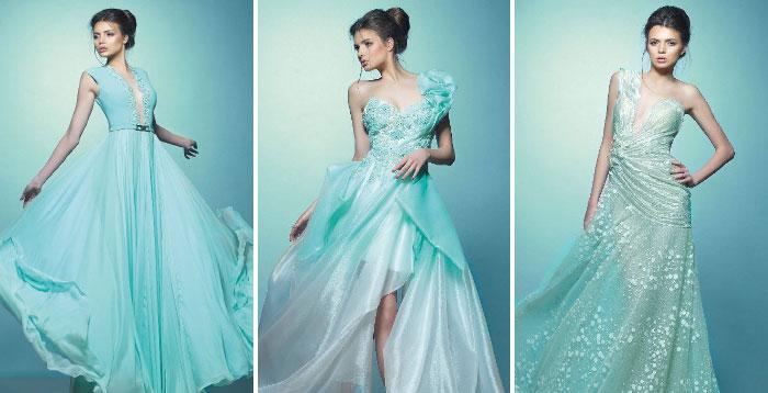 модный цвета свадебного платья бирюзовый цвет свадьбы 2017