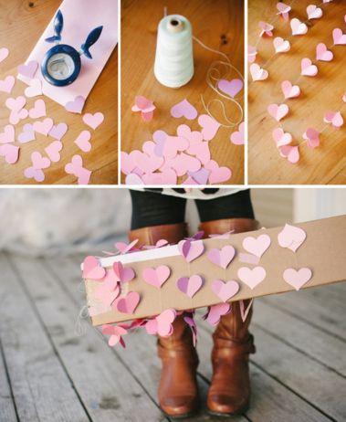 гирлянда из сердечек идеи декора к 14 февраля