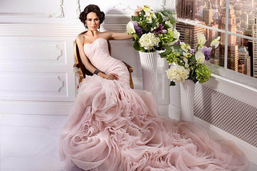 свадебное платье цвет пыльной розы