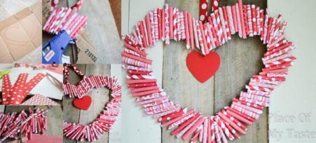 как сделать подвесное сердце на 14 февраля своими руками