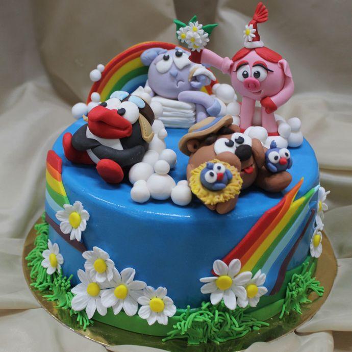 торт смешарики день рождения в стиле смешарики детский праздник