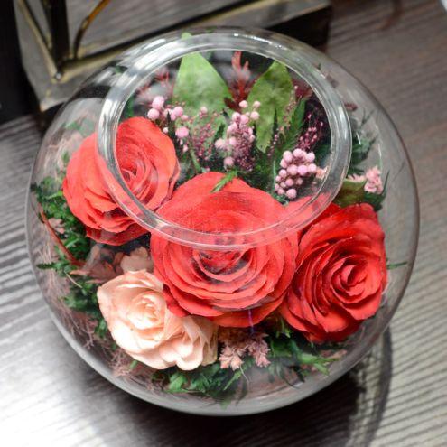 подарки на 8 марта вакуумные цветы